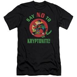 Superman - Mens Say No To Kryptonite Premium Slim Fit T-Shirt