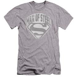 Superman - Mens Man Of Steel Shield Premium Slim Fit T-Shirt