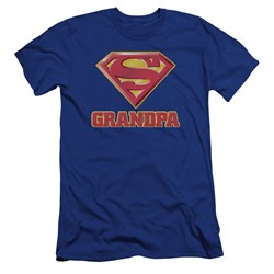 Superman - Mens Super Grandpa Premium Slim Fit T-Shirt