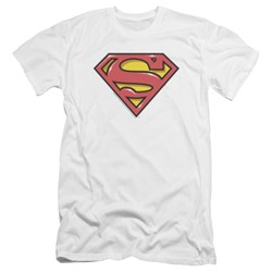 Superman - Mens Airbrush Shield Premium Slim Fit T-Shirt