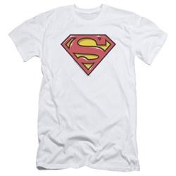 Superman - Mens Airbrush Shield Slim Fit T-Shirt