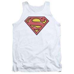 Superman - Mens Airbrush Shield Tank Top
