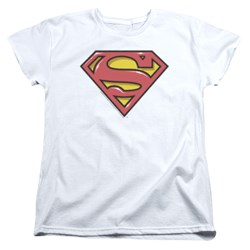 Superman - Womens Airbrush Shield T-Shirt