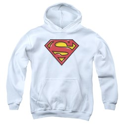 Superman - Youth Airbrush Shield Pullover Hoodie