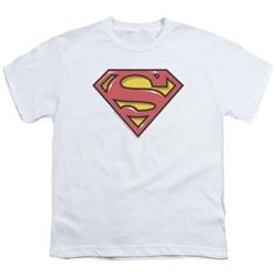 Superman - Youth Airbrush Shield T-Shirt