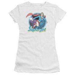 Superman - Juniors Supergirl Airbrush T-Shirt