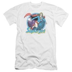 Superman - Mens Supergirl Airbrush Premium Slim Fit T-Shirt