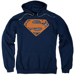 Superman - Mens Vintage Shield Collage Pullover Hoodie