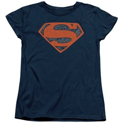 Superman - Womens Vintage Shield Collage T-Shirt