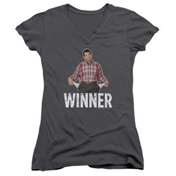 Married With Children - Juniors Winner V-Neck T-Shirt