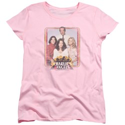 Charlies Angels - Womens Iron On Angels T-Shirt