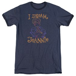 I Dream Of Jeannie - Mens Jeannie Paint Ringer T-Shirt