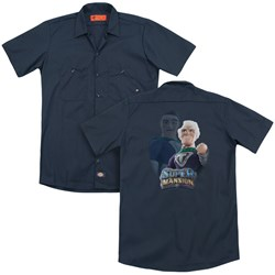 Super Mansion - Mens Titanium Rex (Back Print) Work Shirt