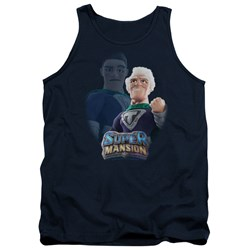 Super Mansion - Mens Titanium Rex Tank Top
