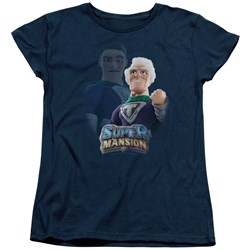 Super Mansion - Womens Titanium Rex T-Shirt