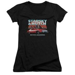 Starsky And Hutch - Juniors Bay City V-Neck T-Shirt