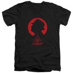 Blacklist - Mens Silhouette V-Neck T-Shirt
