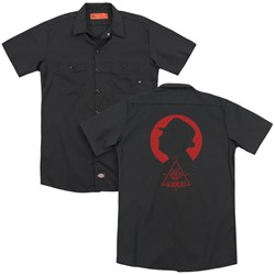 Blacklist - Mens Silhouette (Back Print) Work Shirt