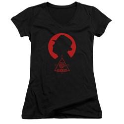 Blacklist - Juniors Silhouette V-Neck T-Shirt