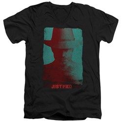 Justified - Mens Silhouette V-Neck T-Shirt