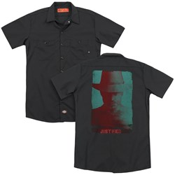 Justified - Mens Silhouette (Back Print) Work Shirt