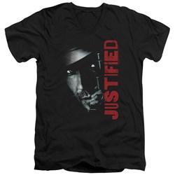 Justified - Mens Gun V-Neck T-Shirt