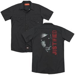 Justified - Mens Gun (Back Print) Work Shirt