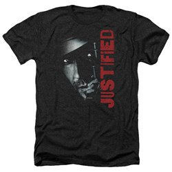 Justified - Mens Gun Heather T-Shirt
