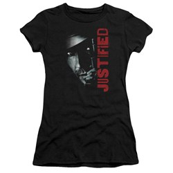 Justified - Juniors Gun Premium Bella T-Shirt