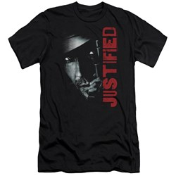 Justified - Mens Gun Premium Slim Fit T-Shirt