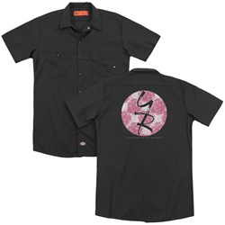 Young And The Restless - Mens Young Roses (Back Print) Work Shirt