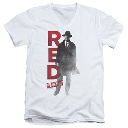 Blacklist - Mens Red V-Neck T-Shirt