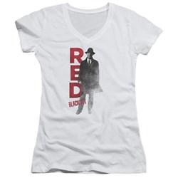 Blacklist - Juniors Red V-Neck T-Shirt