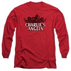 Charlies Angels - Mens Charlies Angels Vintage Logo Long Sleeve T-Shirt