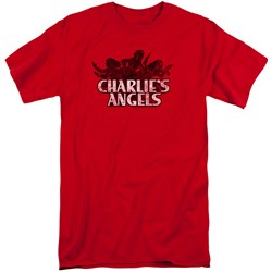 Charlies Angels - Mens Charlies Angels Vintage Logo Tall T-Shirt