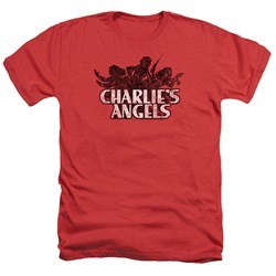 Charlies Angels - Mens Charlies Angels Vintage Logo Heather T-Shirt