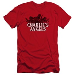 Charlies Angels - Mens Charlies Angels Vintage Logo Premium Slim Fit T-Shirt
