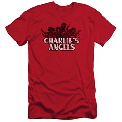 Charlies Angels - Mens Charlies Angels Vintage Logo Slim Fit T-Shirt