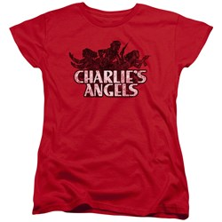 Charlies Angels - Womens Charlies Angels Vintage Logo T-Shirt