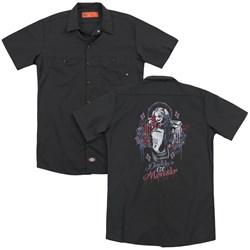 Suicide Squad - Mens Bad Girl (Back Print) Work Shirt