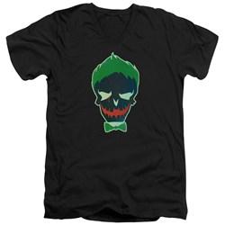 Suicide Squad - Mens Joker Skull V-Neck T-Shirt