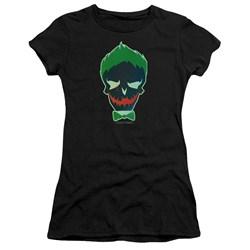 Suicide Squad - Juniors Joker Skull Premium Bella T-Shirt