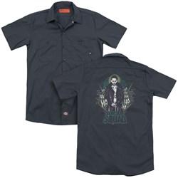 Suicide Squad - Mens Suicide Joker (Back Print) Work Shirt