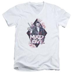 Suicide Squad - Mens Mad Love V-Neck T-Shirt