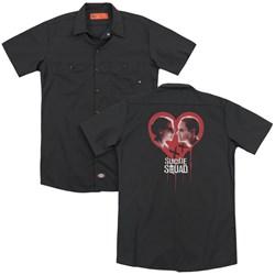 Suicide Squad - Mens Joker Spits Game (Back Print) Work Shirt