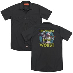 Suicide Squad - Mens Worst Pair (Back Print) Work Shirt