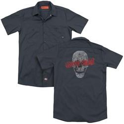 Suicide Squad - Mens Skull (Back Print) Work Shirt