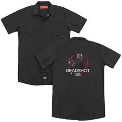 Suicide Squad - Mens Deadshot Target (Back Print) Work Shirt