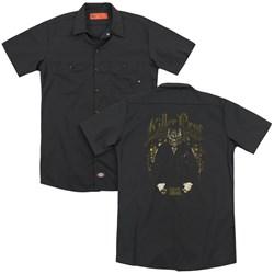 Suicide Squad - Mens Killer Croc Skin (Back Print) Work Shirt