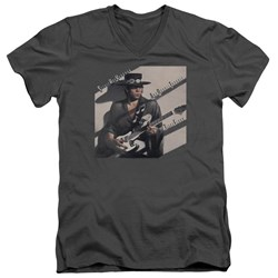 Stevie Ray Vaughan - Mens Texas Flood V-Neck T-Shirt